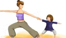 辣妈修炼新选择!亲子瑜伽让你瘦身亲子两不误