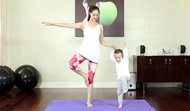 亲子瑜伽的三组动作,学了就能掌握到它的精髓