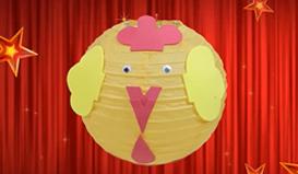 可爱卡通灯笼DIY,适合孩子的春节手工
