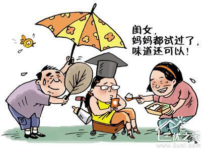 家长和孩子卡通