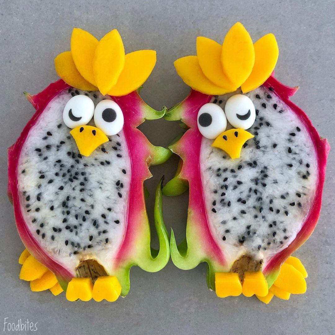 别再为宝宝不吃水果发愁了,看看这位妈妈的创意拼盘吧!