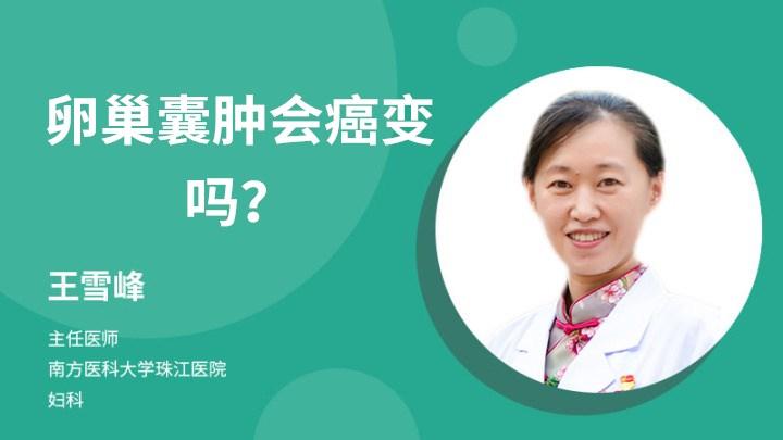 卵巢囊肿会癌变吗?