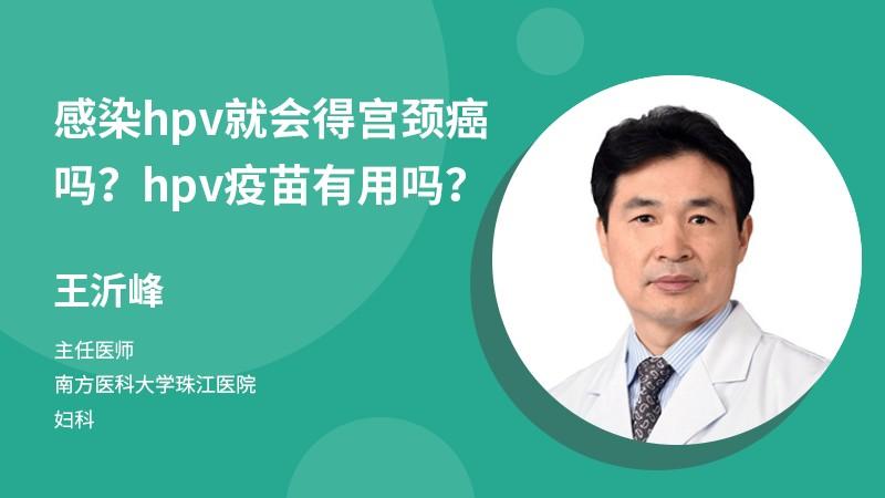 感染hpv就会得宫颈癌吗?hpv疫苗有用吗?