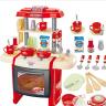 百变厨房套装 贝恩施 A3餐具台 儿童过家家经典款  红色