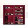 双排九格DIY防尘布 鞋柜(米奇、酒红色)两色可选